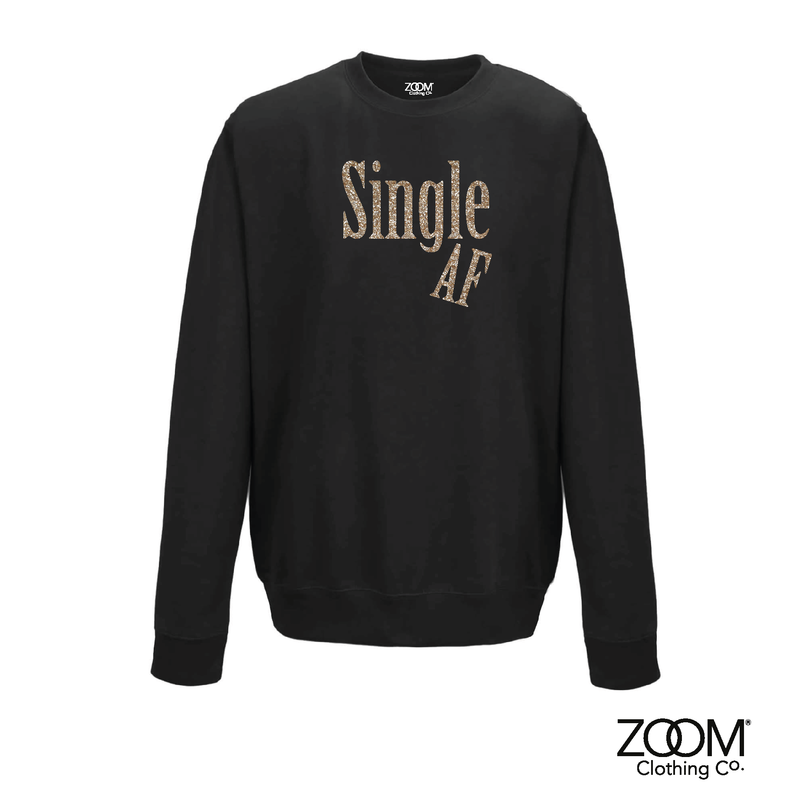 Single AF Gold Glitter Sweatshirt - product image