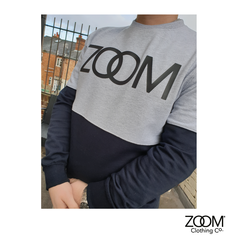 Block,Sweat,Block Sweat, Block Sweatshirt, Thick Cut, Zoom, Zoom Sweatshirt Unisex Sweatshirt