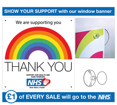 NHS,Support,Window,Banner,Supporting NHS, NHS Donation, NHS, NHS Banner, Support Banner, Window Banner