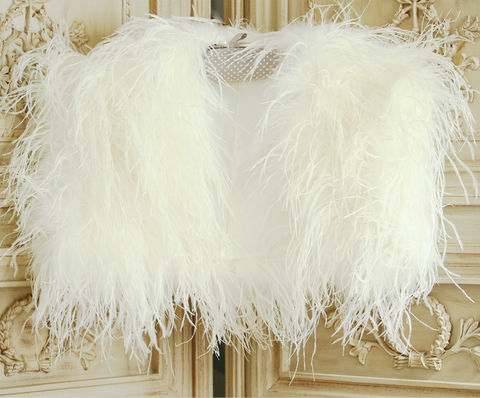 Luxury,Ostrich,Feather,Bolero,luxury ostrich feather bolero, feather bolero, feather wrap, luxury wrap, bridal feather wrap