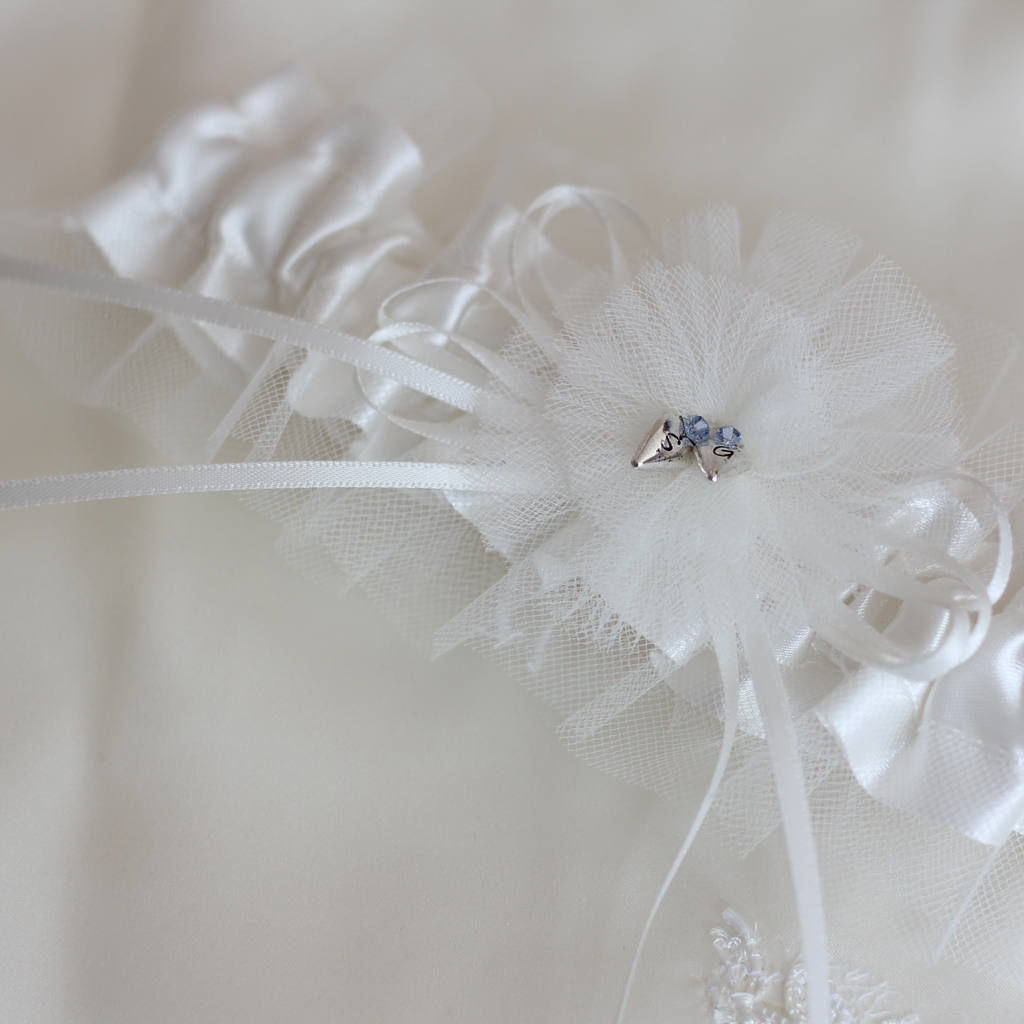 Personalised Tulle Bridal Garter - product images  of