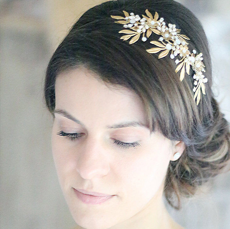 Cleo Opal & Gold Headdress - product images  of