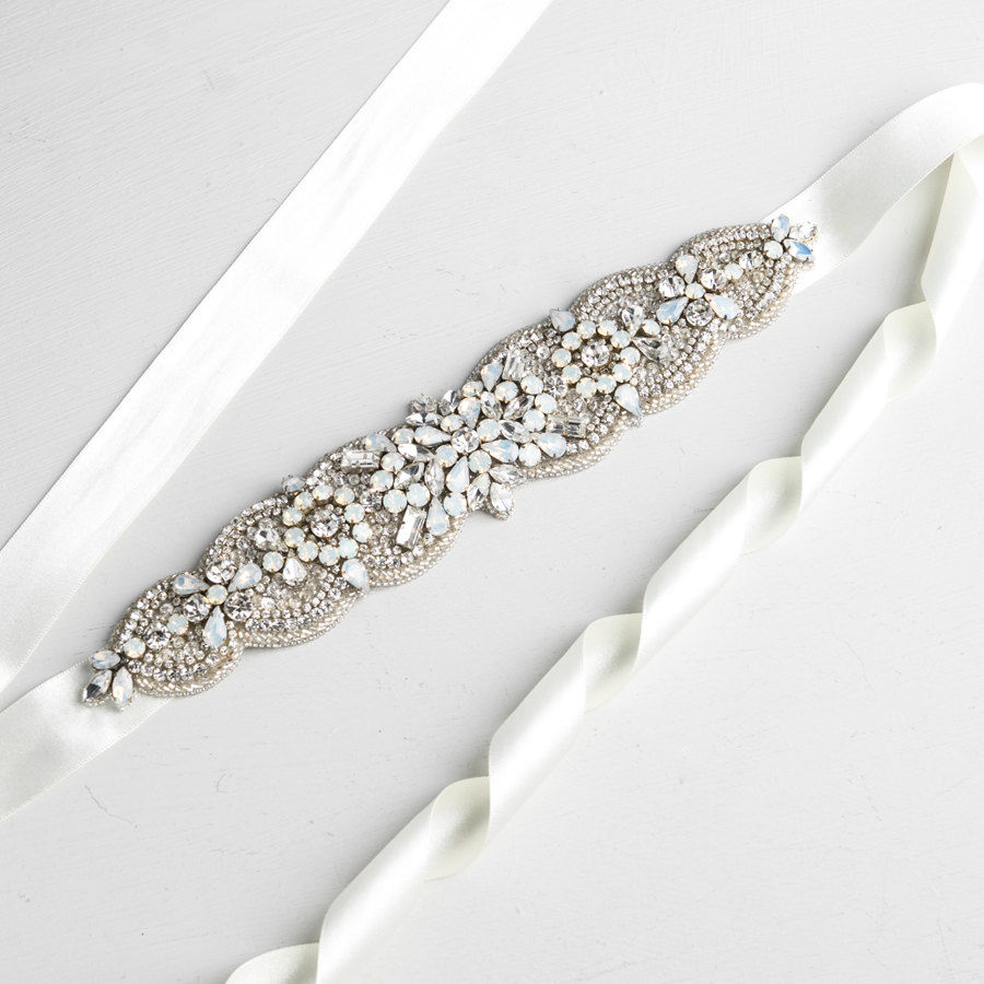 Opal and Crystal Bridal Belt - product images  of
