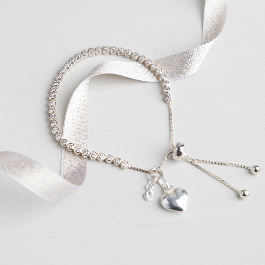 Personalised sterling silver slider bracelet - product images  of