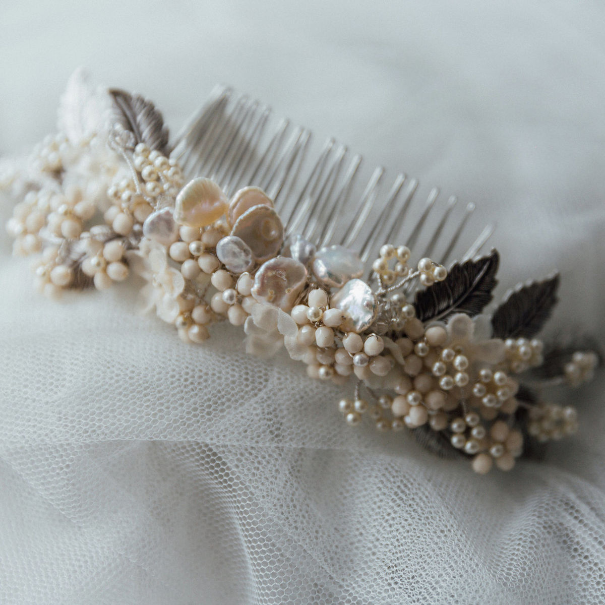 Tiffany Keishi Pearl Comb - product images  of