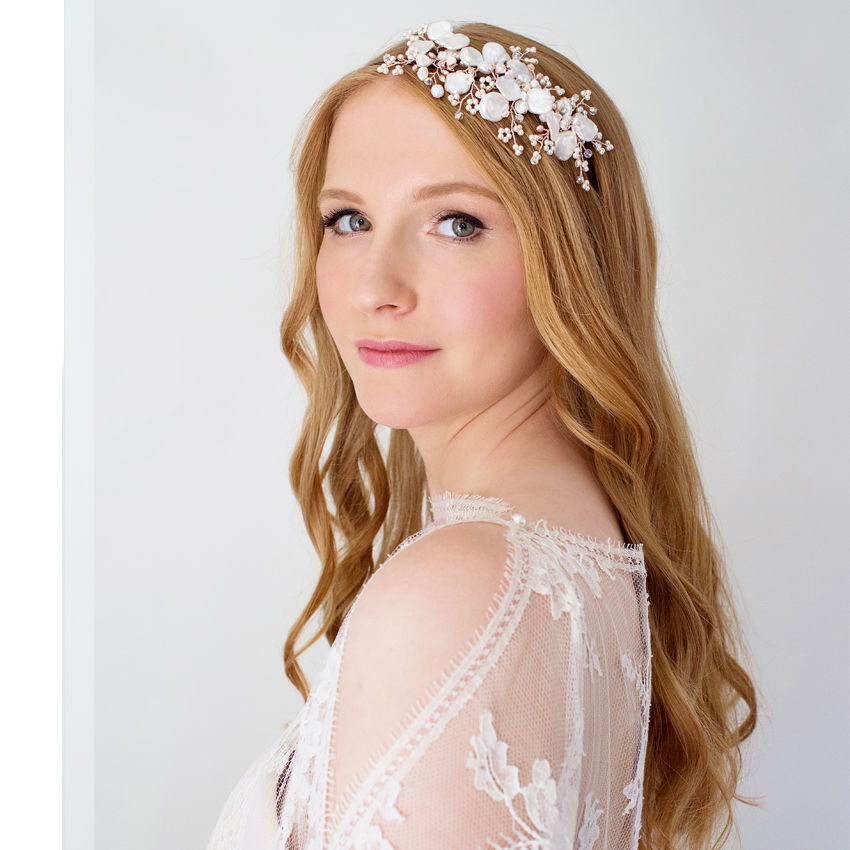 Lily Pearl Headdress - product images  of