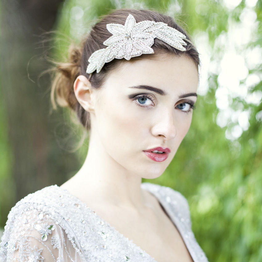 Charlie Crystal Beaded Headdress - product images  of