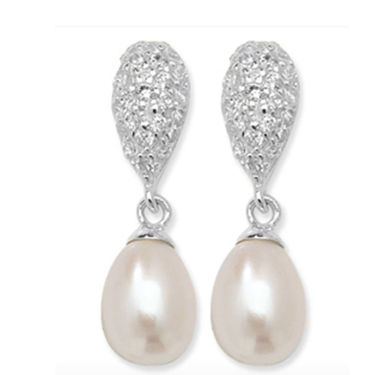 Sterling Silver Freshwater Pearl Drop Earrings - product images  of