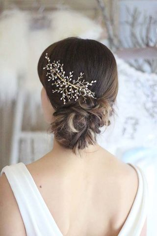 Zeta,Hair,Vine,bridal hair vine, hair vine, crystal hair vine, wedding hair vine, gold hair vine