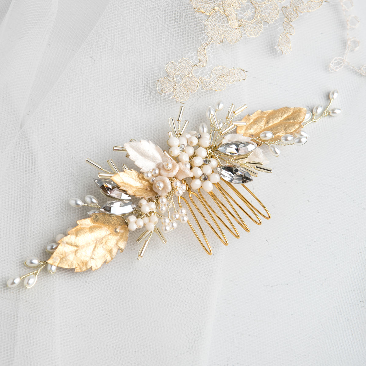 Luna Gold Bridal Comb - product images  of