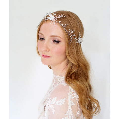 Hermione,Hair,Vine,hair vine, pearl hair vine, wedding hair vine, lace hair vine, wedding vine, bridal hair vine