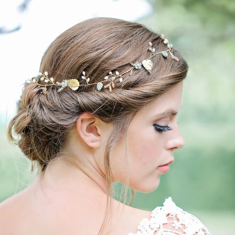 Goddess,of,Love,bridal hair vine, hair vine, crystal hair vine, wedding hair vine, gold hair vine, lois hair vine