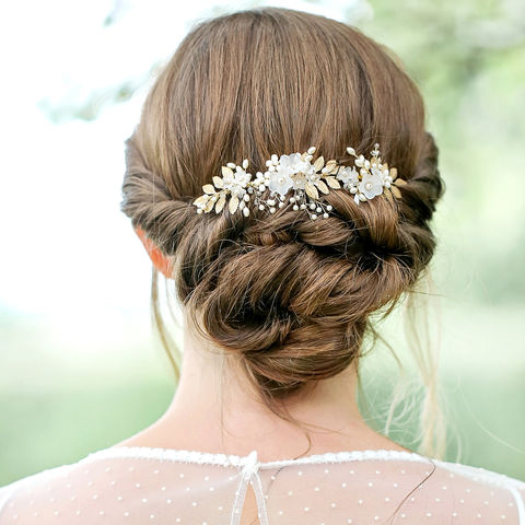 Wild,Flowers,Hair,Vine,bridal hair vine, hair vine, crystal hair vine, wedding hair vine, gold hair vine, lois hair vine