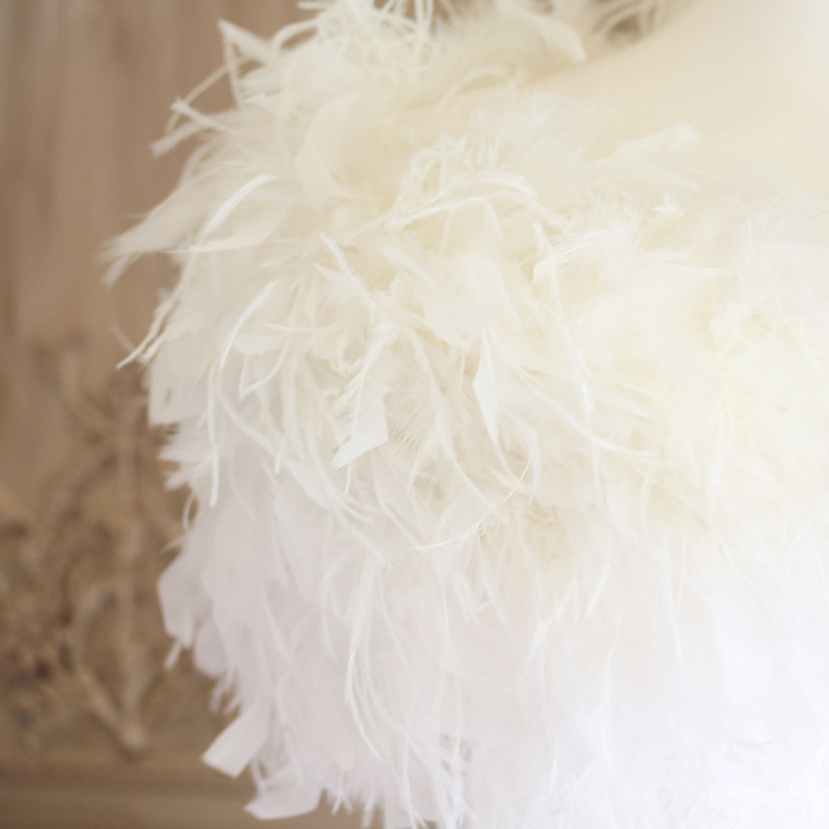 Luxury Ostrich Feather Wrap - product images  of