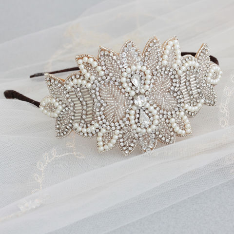 Harper,Headdress,Weddings,Accessories,vintage_headdress,statement_headpiece,statement_bridal,hollywood_style,vintage_inspired,vintage_headpiece,rhinestone_beaded,large_headdress,side_headdress,wedding_accessories,wedding_hair_piece,bridal__headpiece,hair_accessories,rhine