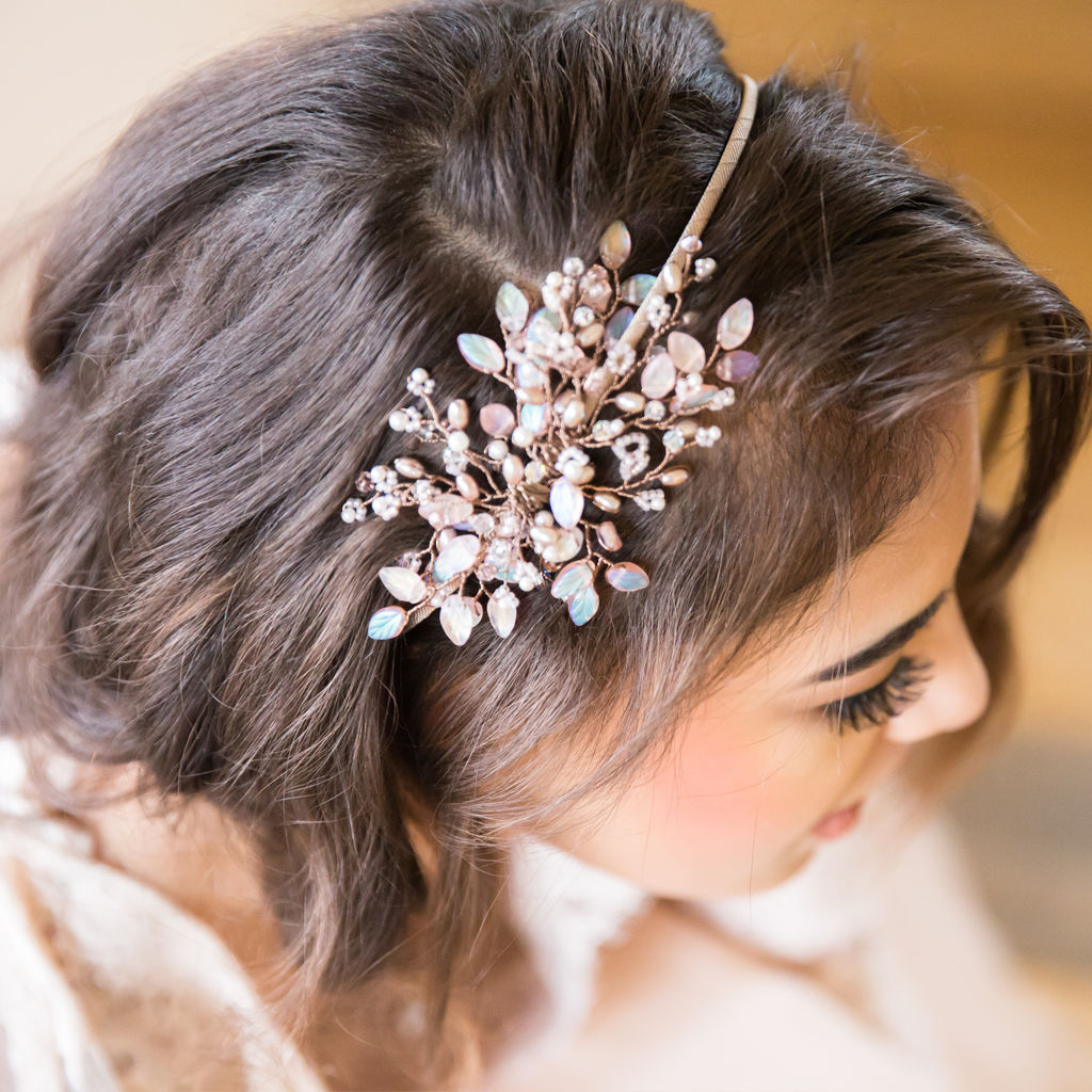 Blush Pink Crystal Headdress - product images  of