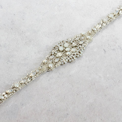 Swarovski,Opal,&,Crystal,Jewel,Belt,wedding belt, opal belts,bridal_belt,bridal_sash,rhinestone_belt,belts_for_brides,wedding_belt,bridal_accessories,wedding_accessories,art_deco_belt,vintage_belt,silver_crystal_belt,wedding_dress_belts,bridal_belt_thin,bridal_belt_sash,swarovski crystal,rh