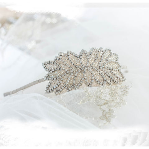 Piper,Headdress,Piper headdress, bridal headdress, botanical headdress, fern headdress, winter wedding headdresses, vintage-inspired headdress, donna crain surrey,  wedding accessories, luxury wedding accessories