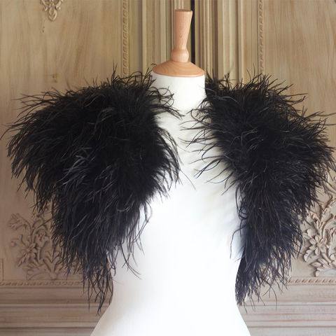 Luxury,Black,Ostrich,Feather,Bolero,ostrich feather bolero, feather bolero, feather wrap, luxury wrap, bridal wraps, feather boas, feather jackets