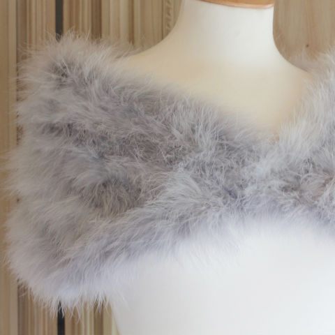 Feather,Wrap,-,Silver,Grey,Marabou,feather wrap, luxury feather wrap, mother of the bride wrap, bridesmaid wraps, mother of the bride feather boleros, luxury boleros, silver wraps, silver boleros