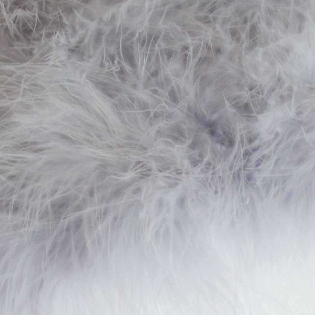 Feather Wrap - Silver Grey Marabou Feather - product images  of