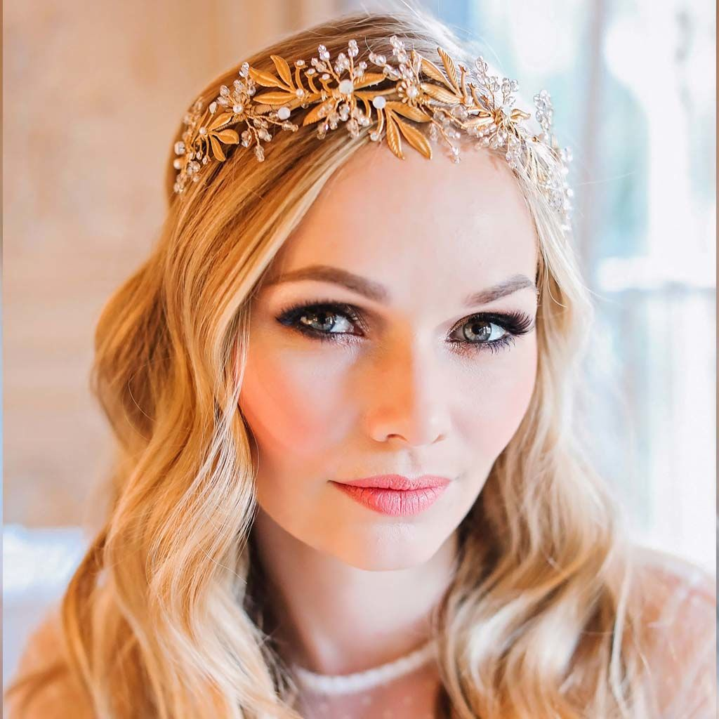 Myriah Gold Crystal Crown - product images  of
