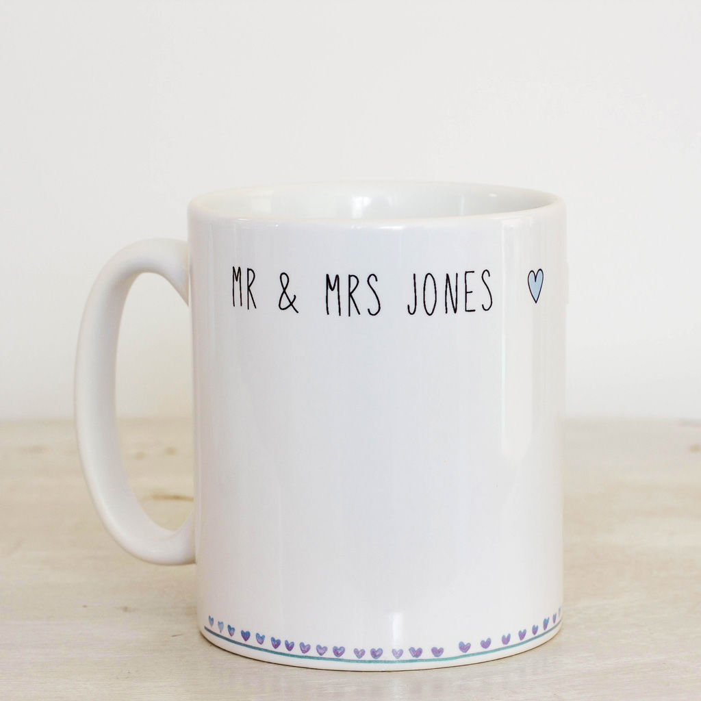 Personalised couple mug set - product images  of