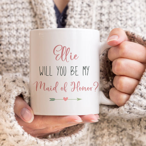 Personalised,Be,My,Maid,of,Honour,Mug,will you be my maid of honour mug, personalised mugs, wedding mugs, personalised gifts, wedding gift mugs