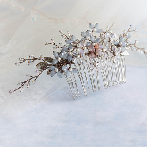 Rosemary,Bridal,Comb,rosemary bridal comb, bridal comb, leaf hair comb, leaf style bridal comb, wedding accessory, wedding comb, bridesmaid comb, silver comb