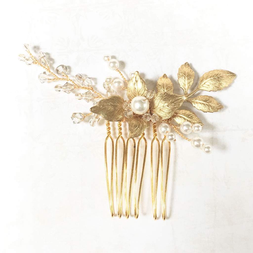 Emilia Gold Crystal Comb - product images  of