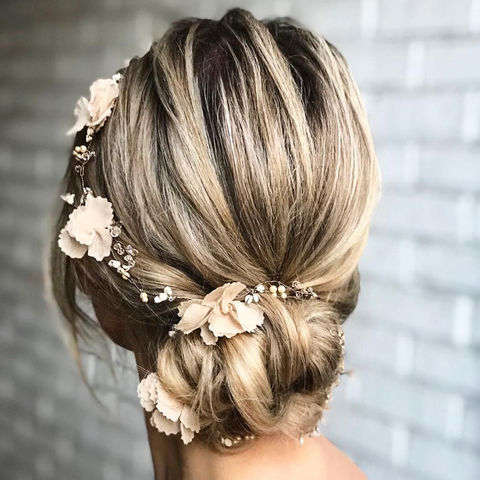 Annie,Hair,Vine,Annie hair vine, bridal hair vine, floral hair vines, wedding hairvines, bridal circlets