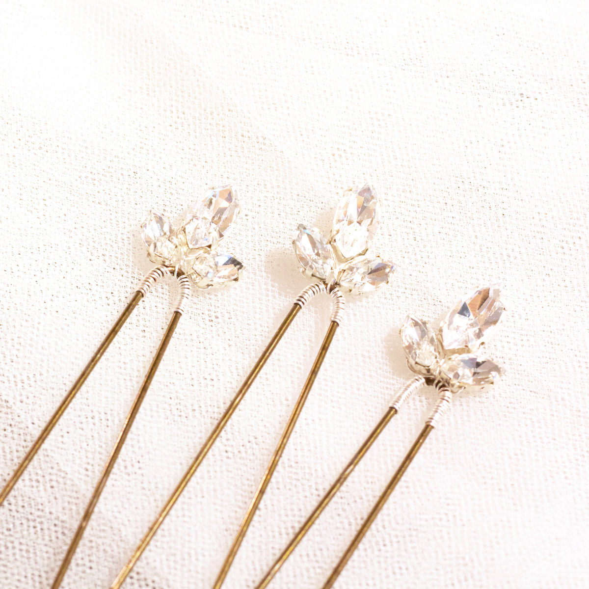 Swarovski Crystal hair pins x 3 - product images  of