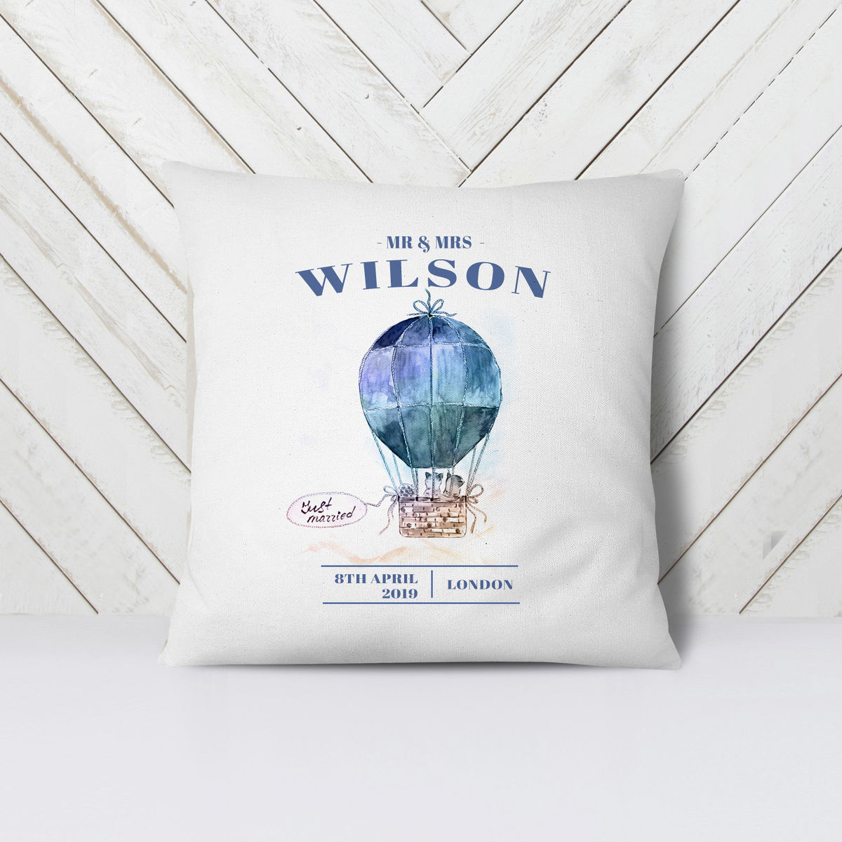 Personalised Wedding Gift Complete Cushion - product images  of