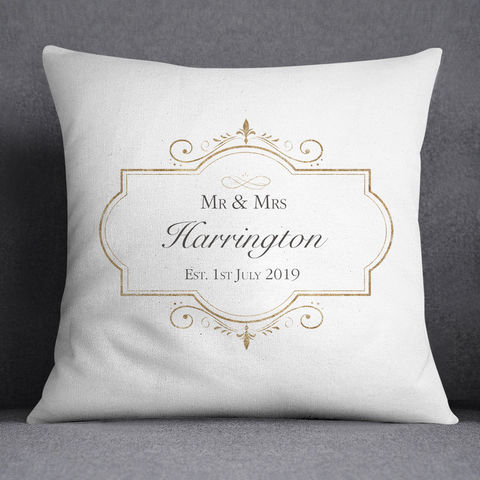 Personalised,Wedding,Cushion,personalised wedding cushions, rose gold framed personalised cushion, mr and mrs cushion, mr and mr gift, mrs and mrs gift