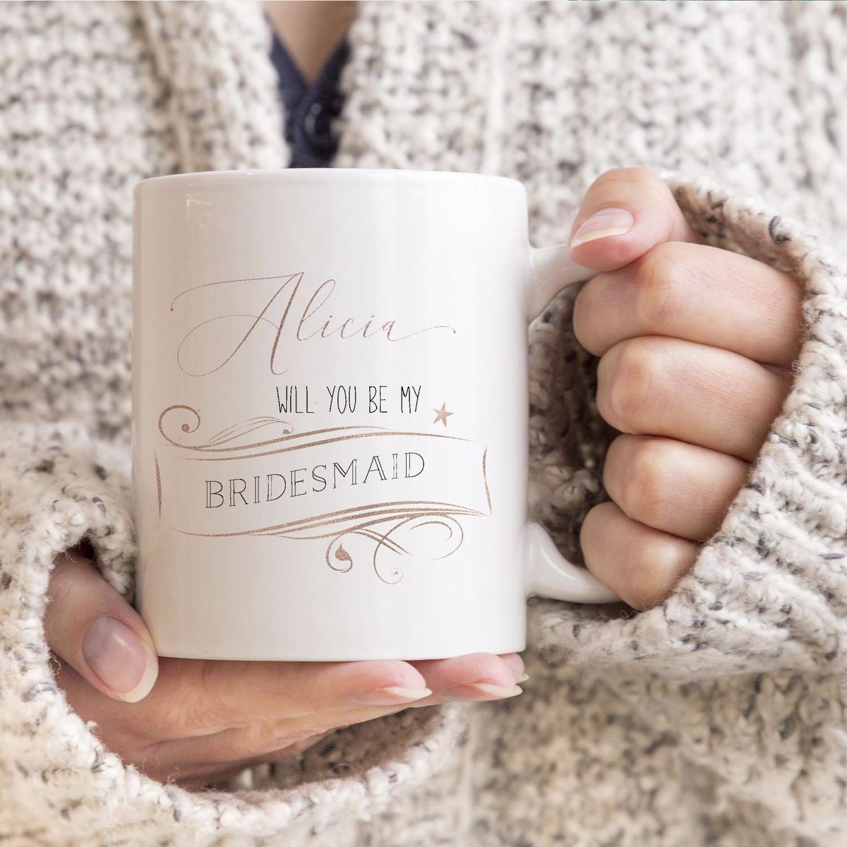 Be my Bridesmaid customised mug - product images  of