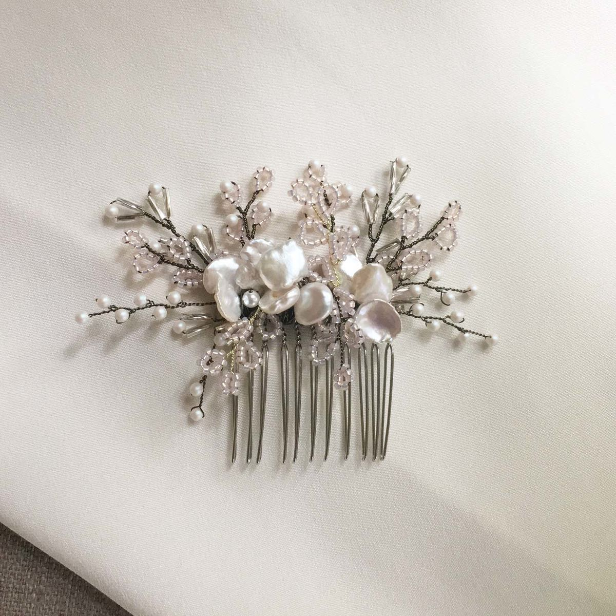 Blush Keishi Pearl Headdress - product images  of