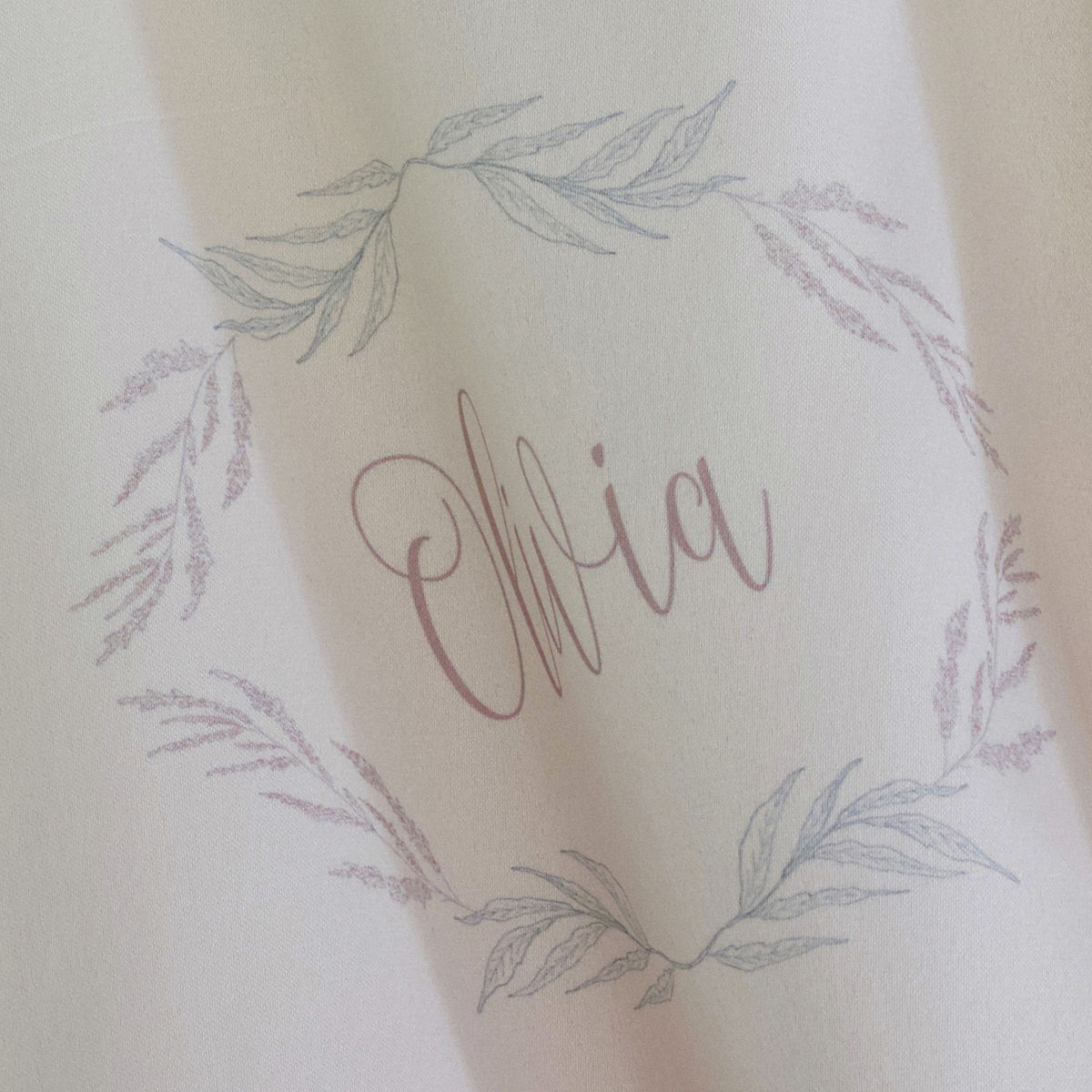 White Satin and Lace personalised Kimono - product images  of
