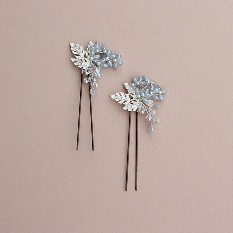 Maria,Opal,Blue,crystal,hair,pin,Maria hair pin, opal blue crystal hair pins, bridal hair pins, crystal hair pins, single hair pins
