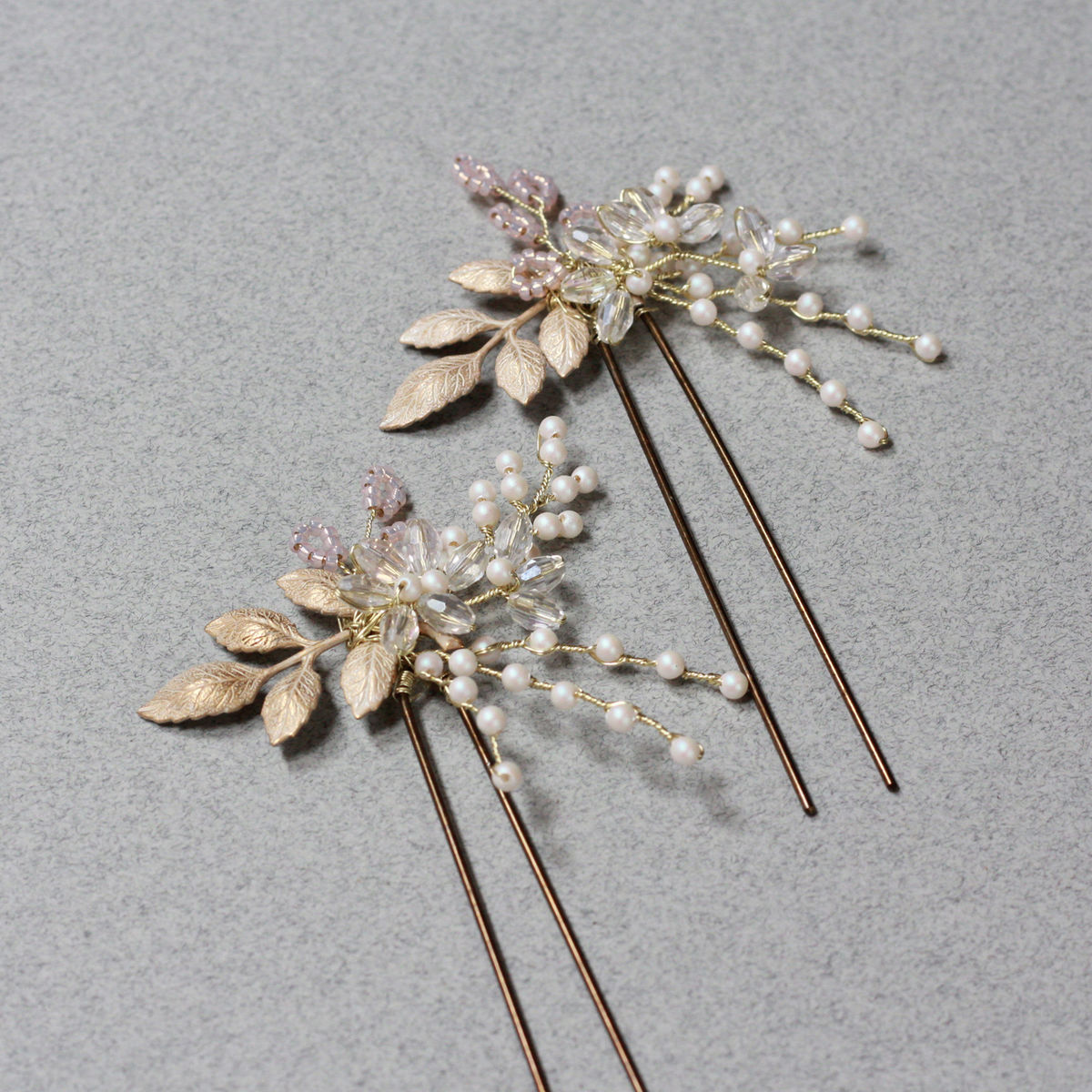 Bainbridge gold accent hair pin - product images  of