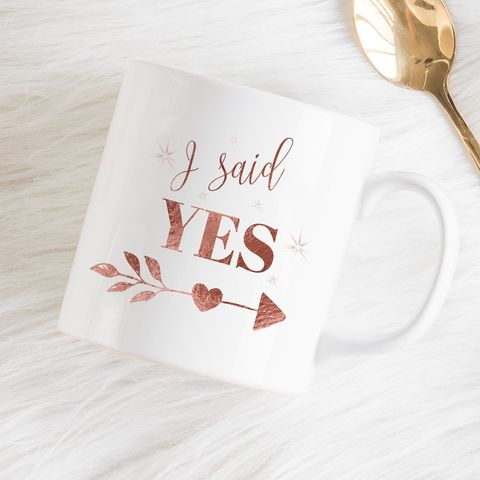 I,said,Yes,personalised,mug,I said yes, he proposed, she proposed, engagement proposal, getting engaged