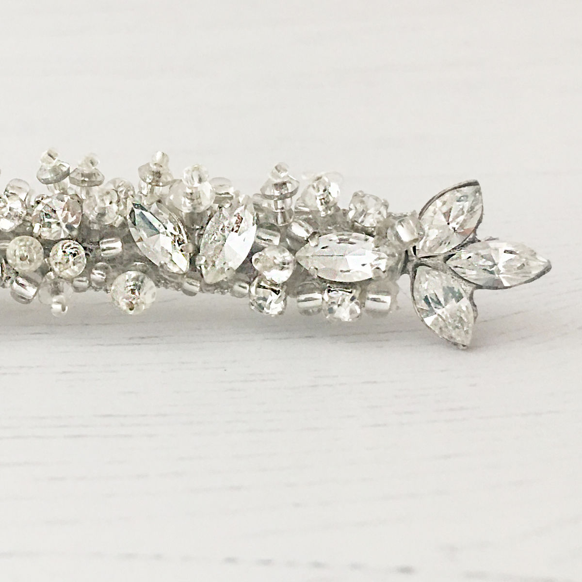 Crystal and Opal Swarovski Hair Slide - product images  of
