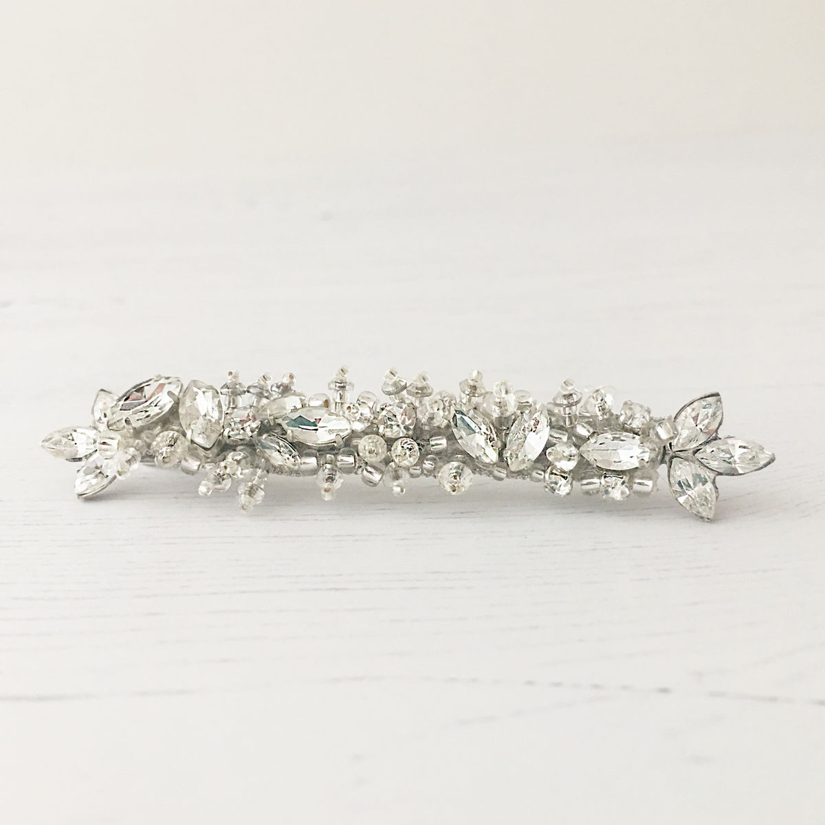 Silver Crystal Hair Slide - product images  of