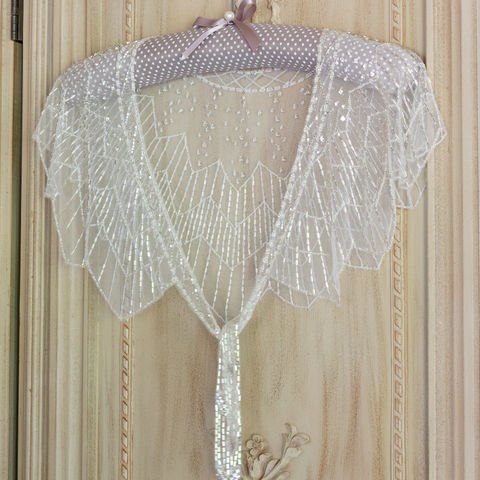 Hand,Beaded,Silver,Capelet,Cover,Up,silver beaded caplet, silver beaded capes, bridal caplets, luxury bridal cover-ups