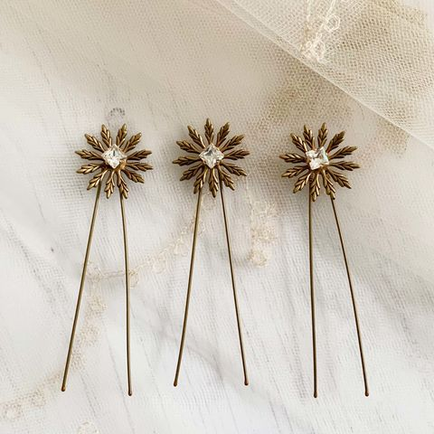 Isley,Set,of,Hair,Pins,bridal hair pins, bridesmaid pins, wedding star pins, wedding accessories, bridal hair accessories, Surrey bridal, donnacrainsurrey