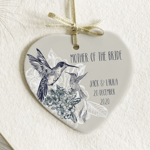 Hummingbird,wedding,baubles,hummingbird wedding favour ceramic gifts, named bauble, wedding gift bauble, luxury bauble for bridesmaid, wedding gift,  bridal gift