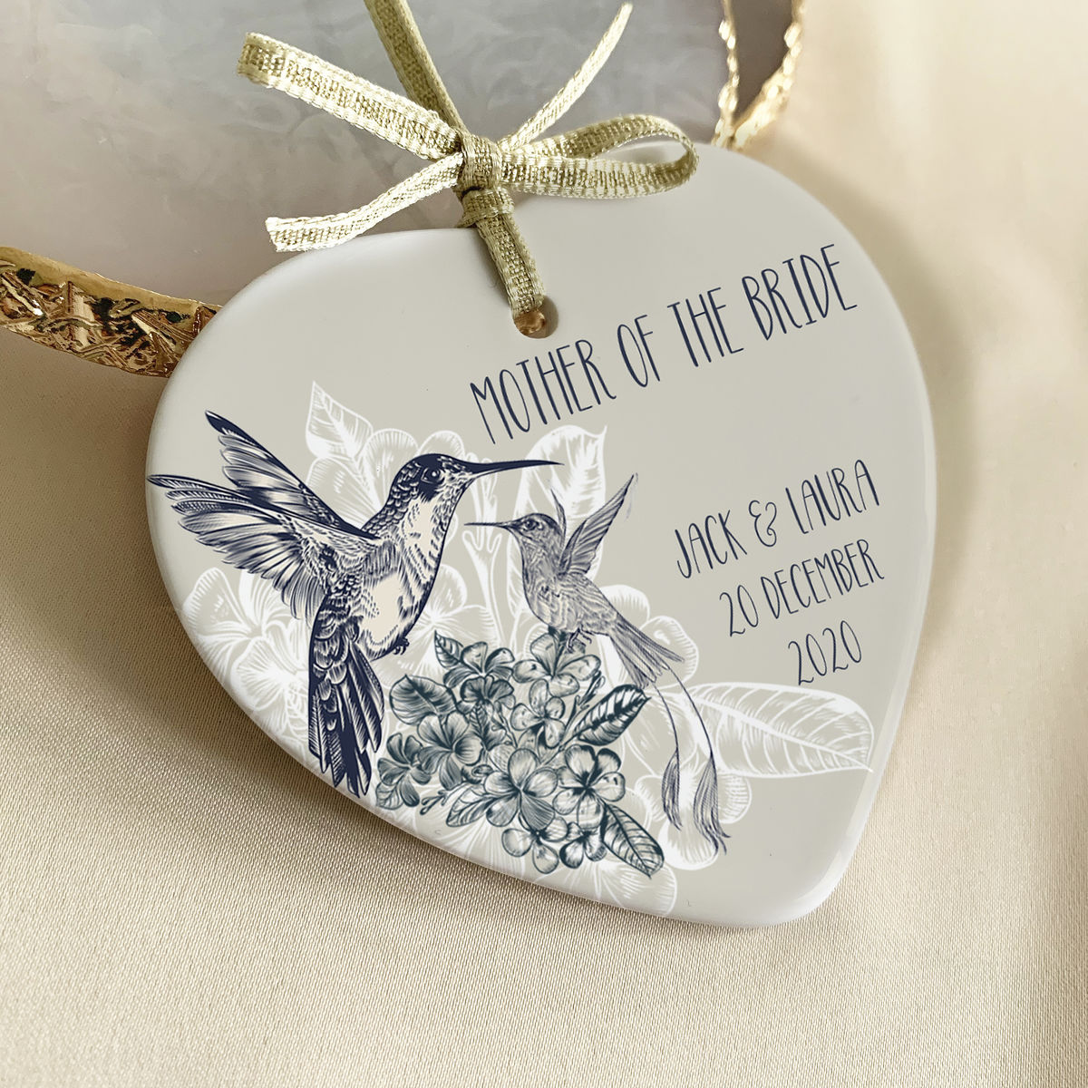 Hummingbird wedding baubles - product images  of