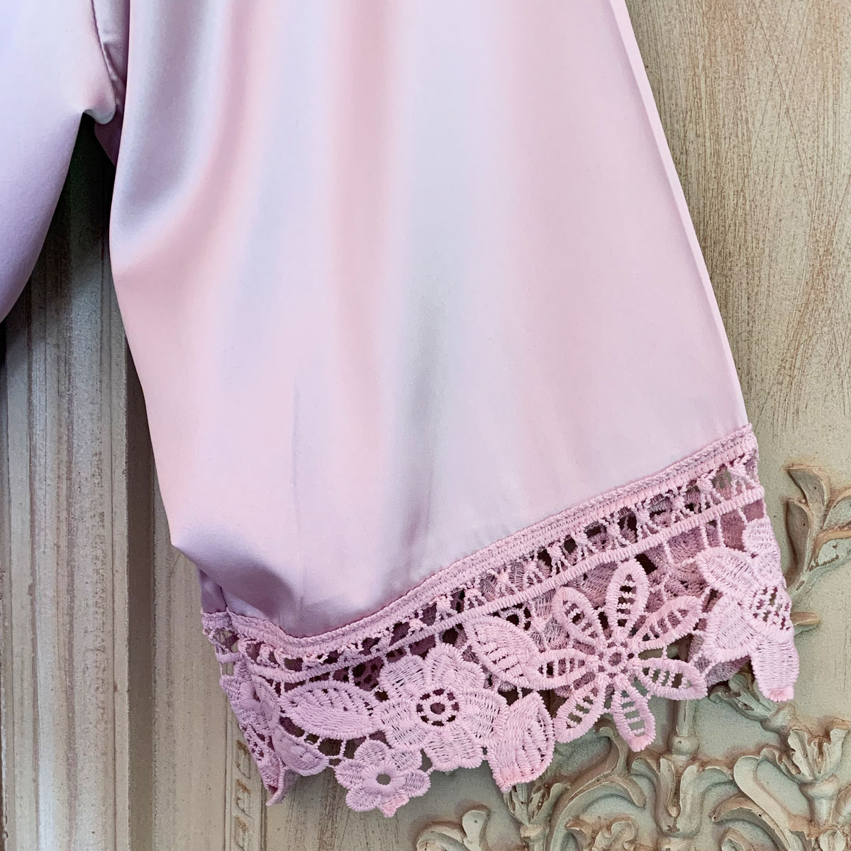Satin & Lace Robe - product images  of