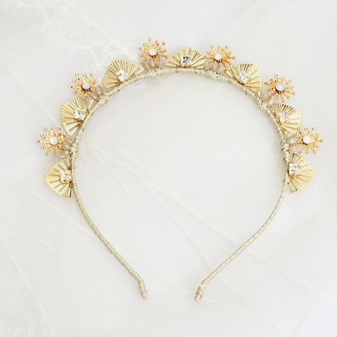 Wild,Moon,Gold,Crown,wild moon gold crown,  bridal headdress,  celestial crown, Surrey wedding accessories, Surrey bridal, wedding accessories, bridal shop Surrey, bridal, Swarovski pearls and crystals headdress, bridal halo, flora halo