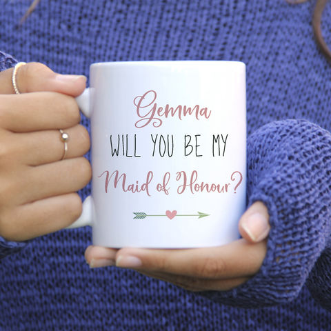 Personalised,Be,My,Bridesmaid,Mug,will you be my bridesmaid mug, personalised mugs, wedding mugs, personalised gifts, wedding gift mugs