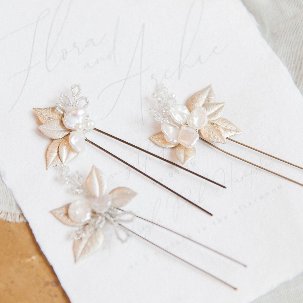 Flora Pearl Blooms - set of 3 - product images  of